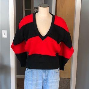 Vintage v neck sweater medium